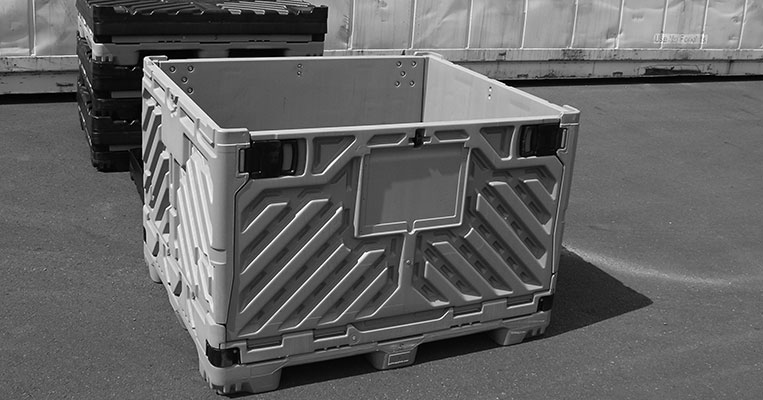 Collapsible Pallet Bin Storage System